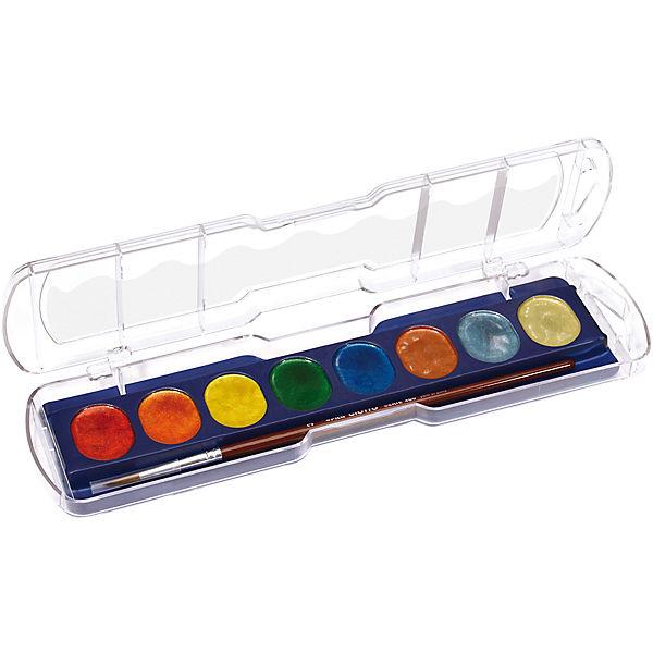 Акварель с металлическим эффектом, 8 цветов.