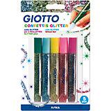 Глиттер для декорирования, цветные конфетти, 5 цветов по 5,5 мл