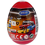 """Модель машины 1:60 """"Яйцо-сюрприз"""", красная, Welly"""