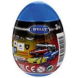 """Модель машины 1:60 """"Яйцо-сюрприз"""", синяя, Welly"""