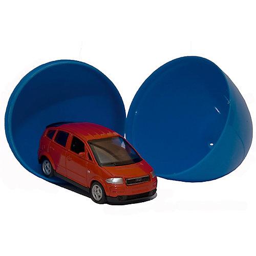 """Модель машины 1:60 """"Яйцо-сюрприз"""", синяя, Welly от Welly"""