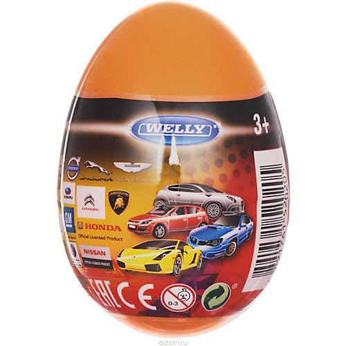 """Модель машины 1:60 """"Яйцо-сюрприз"""", оранжевая, Welly от Welly"""