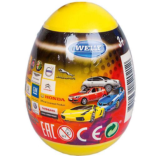 "Модель машины 1:60 ""Яйцо-сюрприз"", жёлтая, Welly от Welly"