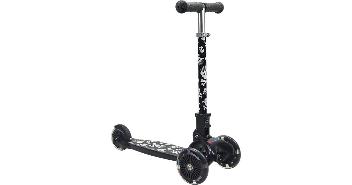 Scooter mit leuchtenden Rädern, Pirat
