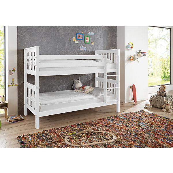 etagenbett wicky inkl rollrost buche massiv wei relita mytoys. Black Bedroom Furniture Sets. Home Design Ideas