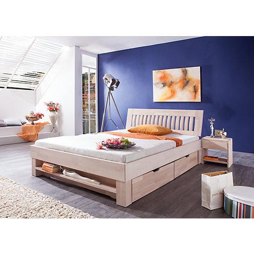 Relita Futonbett KLEOPATRA, Buche massiv, weiß gewaschen, 180 x 200 cm Sale Angebote Werben