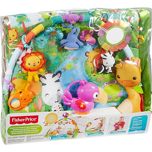 """Музыкальный игровой коврик Fisher Price """"Тропический лес"""" с огоньками от Mattel"""