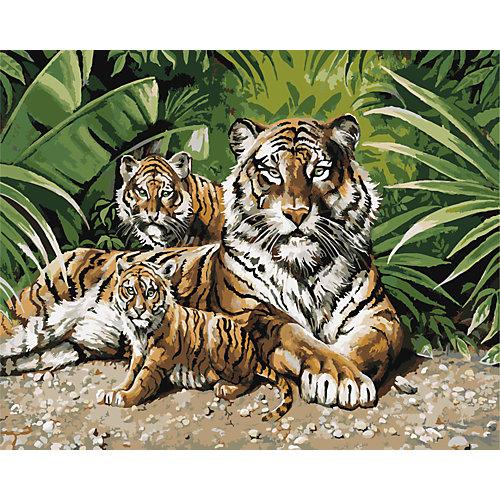 """Роспись по номерам """"Тигры"""" 40*50 см от TUKZAR"""