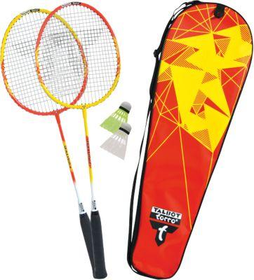 Red Schildkr/öt 2 Player Federball Badminton Set