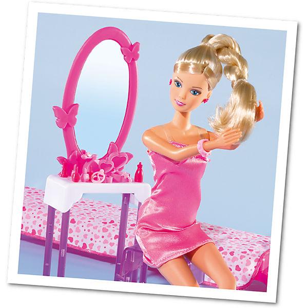 "Кукла ""Штеффи в спальной комнате"" с аксессуарами, 29 см, Simba"