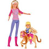 """Кукла """"Штеффи и Еви с пони на ферме"""", 29 см, Simba"""