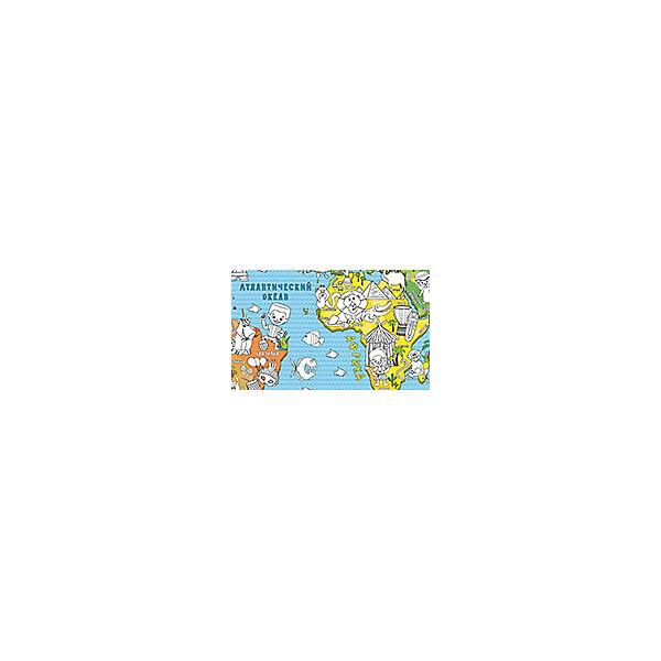 "Карта-раскраска настенная карта мира ""Страны"""