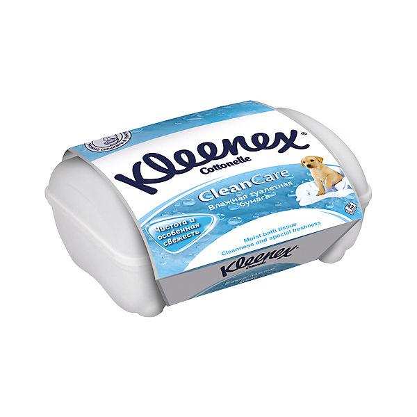 Влажная туалетная бумага Kleenex, коробка 42 штуки