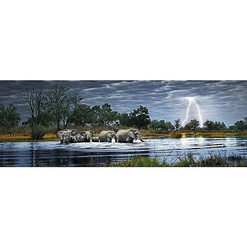 "Пазлы HEYE ""Стадо слонов"",  2000 деталей , панорама от HEYE"