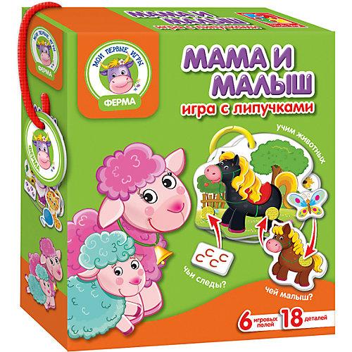 """Настольная игра """"Мама и малыш"""", с липучками, Vladi Toys"""