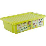 """Ящик для хранения игрушек """"X-BOX"""" """"Обучайка"""" Овощи-фрукты 30л, Little Angel, салатовый"""