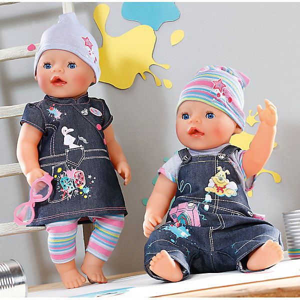 Одежда Джинсовая, BABY born, серая