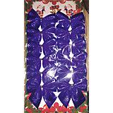 """Новогоднее украшение из полиэстера """"Бант синее небо"""" (5*5см,набор из 12 шт.)"""