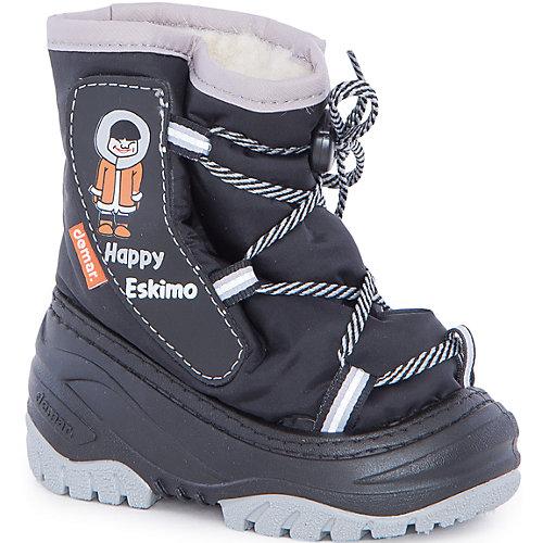 Сноубутсы Happy Eskimo для мальчика DEMAR - черный/серый от Demar