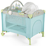 Кровать-манеж LAGOON V2, Happy Baby, голубой