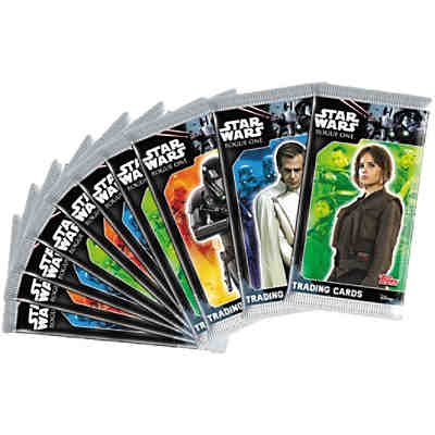 Topps Sammelkarten - Star Wars Rogue One Booster 10er Bundle (50 Karten)