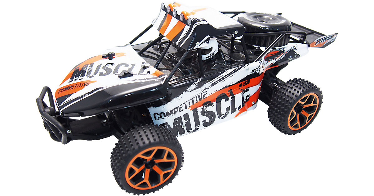 "RC Sand Buggy Extreme D5  ""white-orange"" 1:18  4WD RTR"