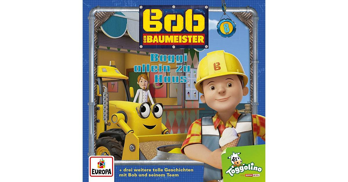 CD Bob der Baumeister 08 - Baggi allein zu Haus Hörbuch