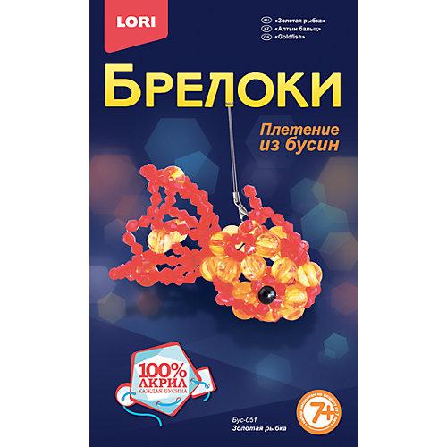 """Брелок-плетение из бусин """"Золотая рыбка"""" от LORI"""