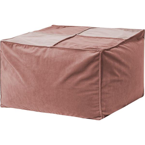 Sitzhocker Loft 80 X 80 Cm Samt Uni Rose Sitting Point Mytoys