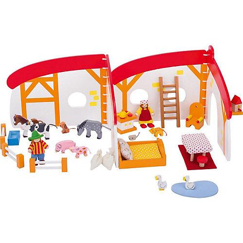Кукольный дом складной Ферма 35 дет., goki от goki
