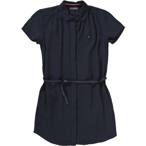 TOMMY HILFIGER Kinder Kleid Gr. 128 Mädchen Sale Angebote Nievern