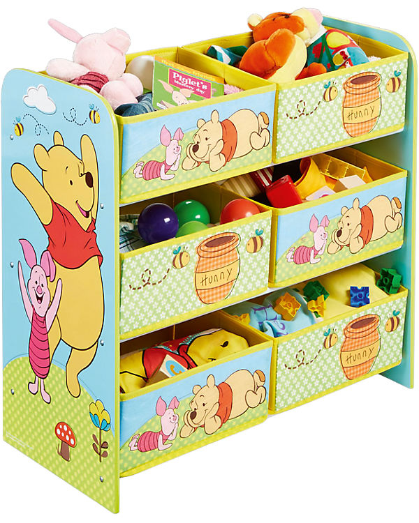 6 boxen regal winnie the pooh disney winnie puuh mytoys. Black Bedroom Furniture Sets. Home Design Ideas