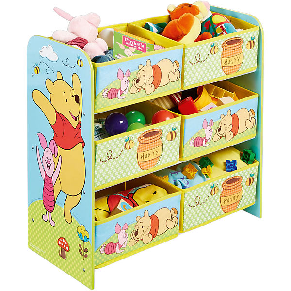6 boxen regal winnie the pooh disney winnie puuh mytoys. Black Bedroom Furniture Sets. Home Design Ideas