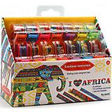 """""""Я люблю Африку"""" Большой набор для творчества с клейкими ленточками."""