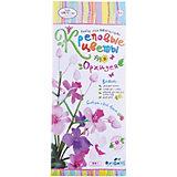 """Креповые цветы своими руками """"Орхидея"""" 3 цвета."""