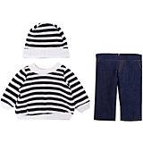 Одежда для кукол: шапочка, кофточка и штаны, 30x20см, JUNFA