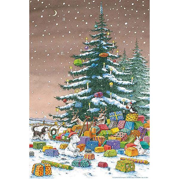 kleiner eisb r unter dem weihnachtsbaum adventskalender. Black Bedroom Furniture Sets. Home Design Ideas