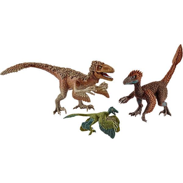 Schleich 42347 Dinosaurier: Gefiederte Raptoren, Schleich