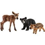 """Коллекционный набор фигурок Schleich """"Дикие животные"""" Детёныши лесных животных"""