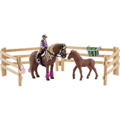 Schleich 42195 Farm World Pferdestall Mit Pferden Und Zubehör