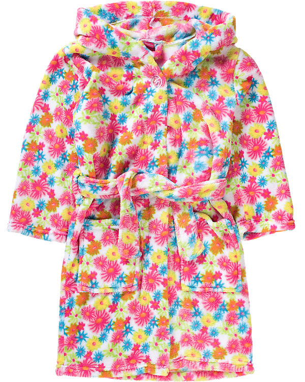 Fleece-Bademantel BLUMEN für Mädchen, Playshoes | myToys