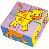 "Кубики ""Собери картинку  - животные"", Мякиши"