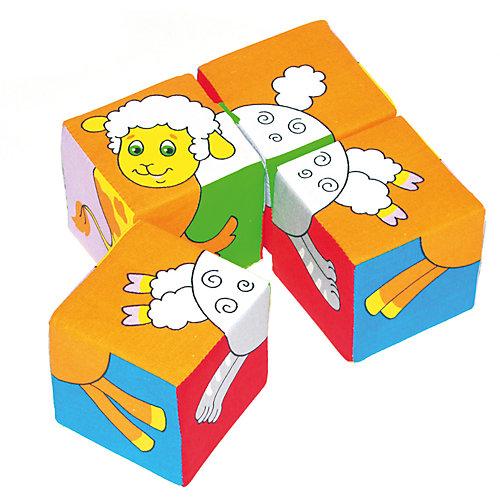 "Кубики ""Собери картинку  - животные"", Мякиши от Мякиши"