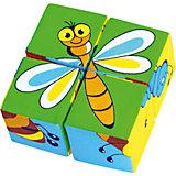 """Кубики """"Собери картинку - насекомые"""", Мякиши"""
