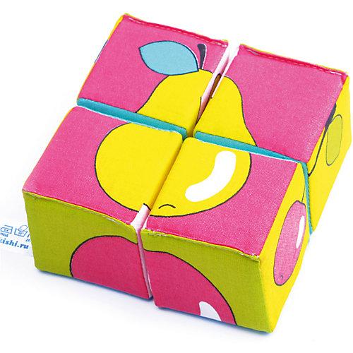 """Кубики """"Собираем картину - ягоды, фрукты, овощи"""", Мякиши от Мякиши"""