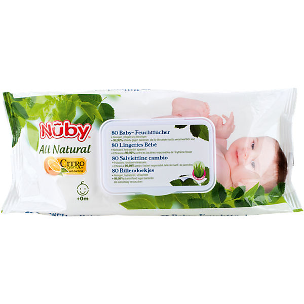 Baby-Feuchttücher All Natural , 2er Pack