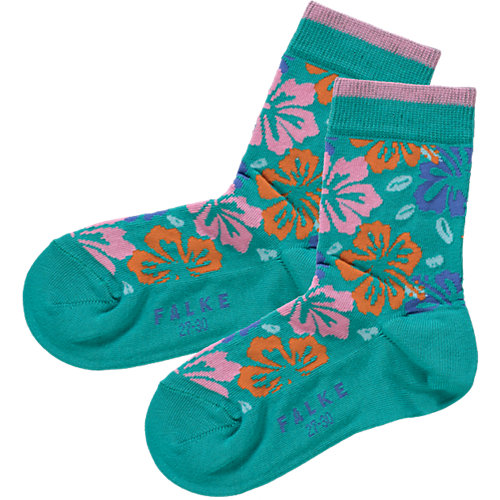 FALKE Kinder Socken Hibiscus Gr. 23-26 Mädchen Kleinkinder Sale Angebote Schwarzbach