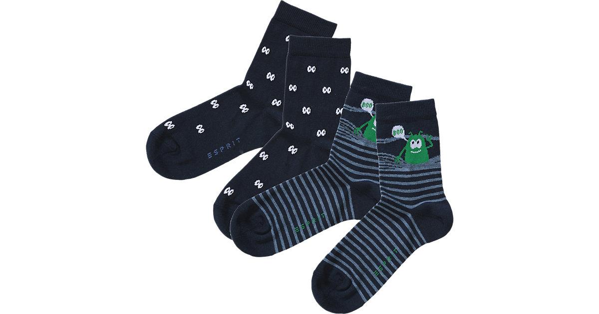 Kinder Socken Doppelpack Monster Gr. 39-42 Jung...