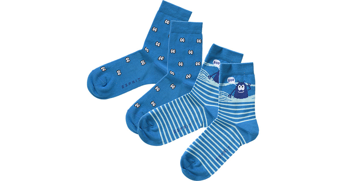 Kinder Socken Doppelpack Monster Gr. 35-38 Jung...
