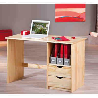 Schreibtisch tonja h henverstellbar kiefer massiv natur for Schreibtisch natur